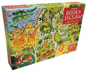 At The Zoo - Book & 100 Piece Jigsaw Puzzle