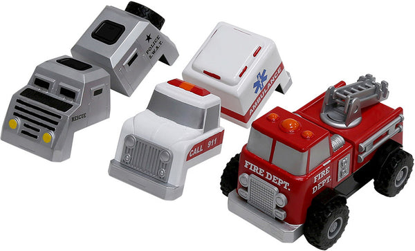 Magnetic Build-A-Truck Sets