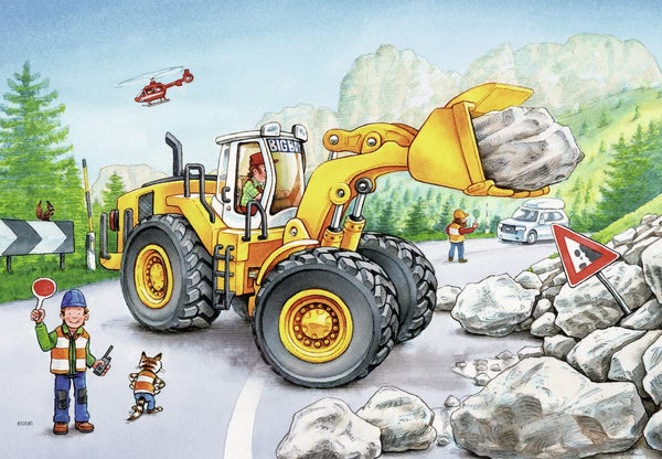 Diggers at Work 2 x 24 Piece Puzzles