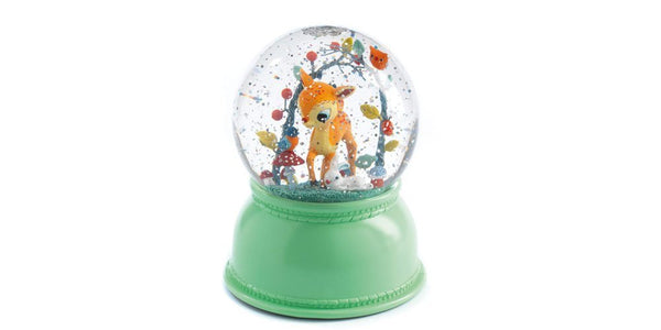 Fawn Night Light Snowglobe