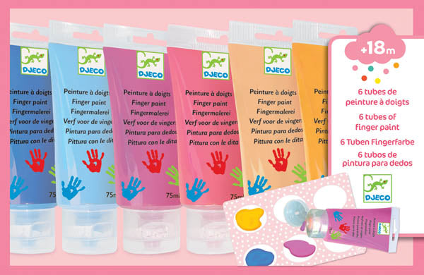 6 Finger Paint Tubes