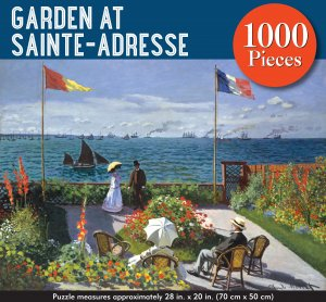 Garden at Sainte-Adresse 1000 Piece Puzzle