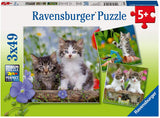 Tiger Kittens 3 x 49 Piece Puzzles