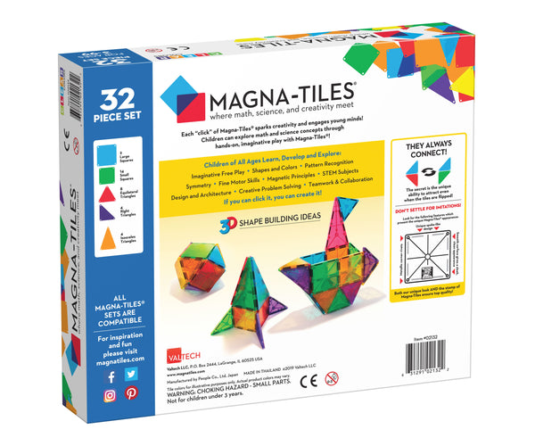 Magna-Tiles Clear Colors 32pc Set