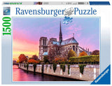 Picturesque Notre Dame 1500 Piece Puzzle