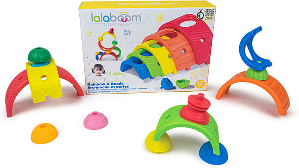 Lalaboom Rainbow & Beads - 13pcs