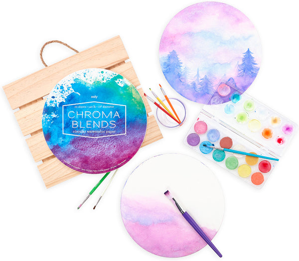 CB Circular Watercolor Paper Pa