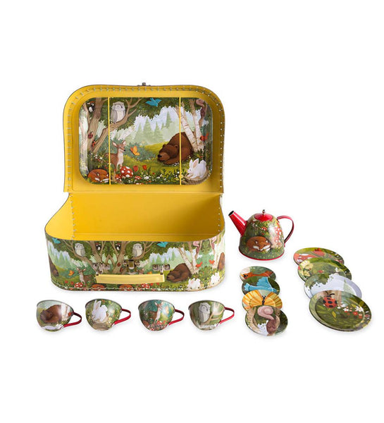 Copy of Tin Tea Set - Woodland
