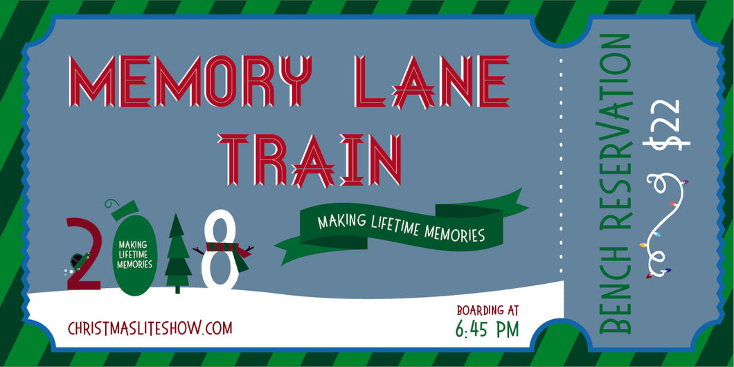 Memory Lane Train: 6:45 Departure