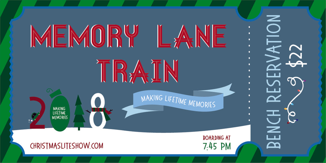 Memory Lane Train: 7:45 Departure