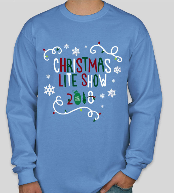 Christmas Lite Show Long Sleeve Unisex Shirt