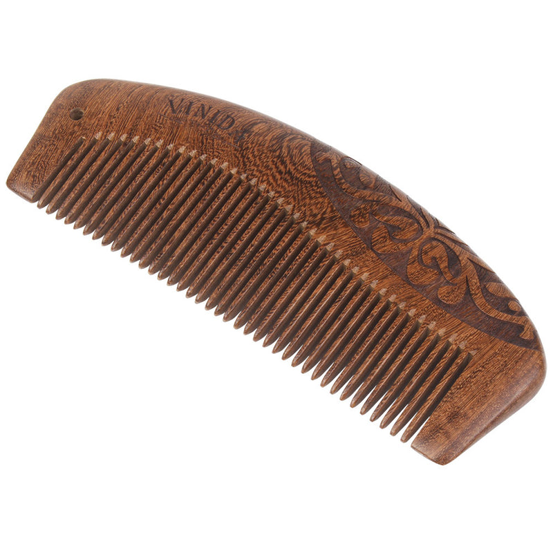 Ebony Wood Comb with Exquisite Gift Box - Handcrafted Comb with Carved Pattern ( No Tangle and No Static) - Vinida Beauty