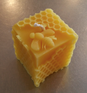 Beeswax Candle - Bee Cube