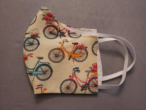 Face Mask - Cotton- Bicycles