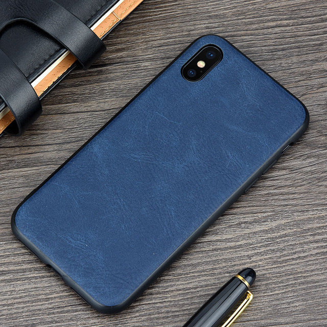 new arrival 6647d a486b Vintage Leather Case for iPhone X
