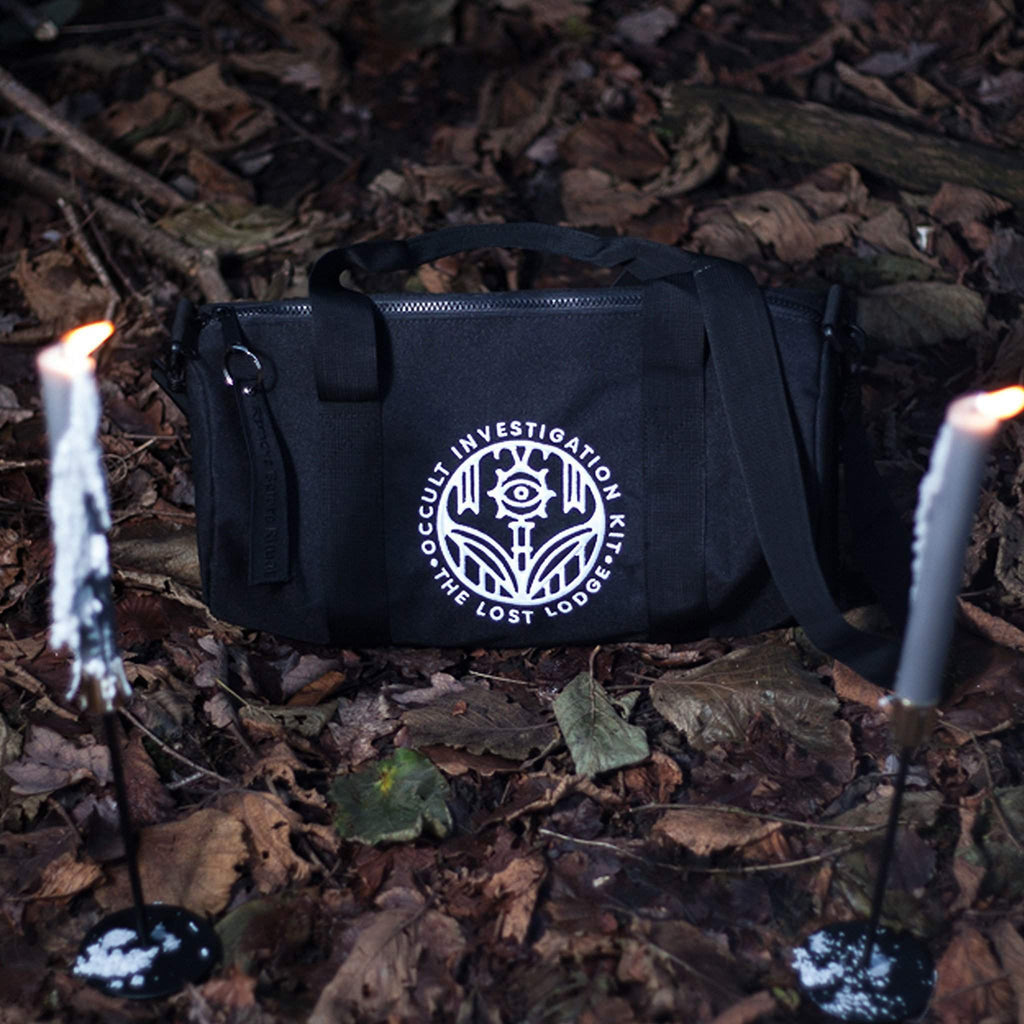The Lost Lodge Bag Occult Investigation Kit  ☛ Black Compact Barrel Bag