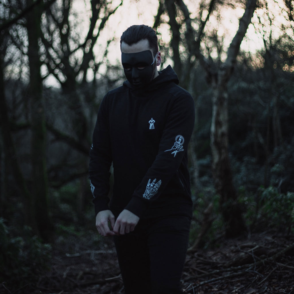 The Lost Lodge Hoodie Hands of Origin ☛ Black Cowl Hoodie