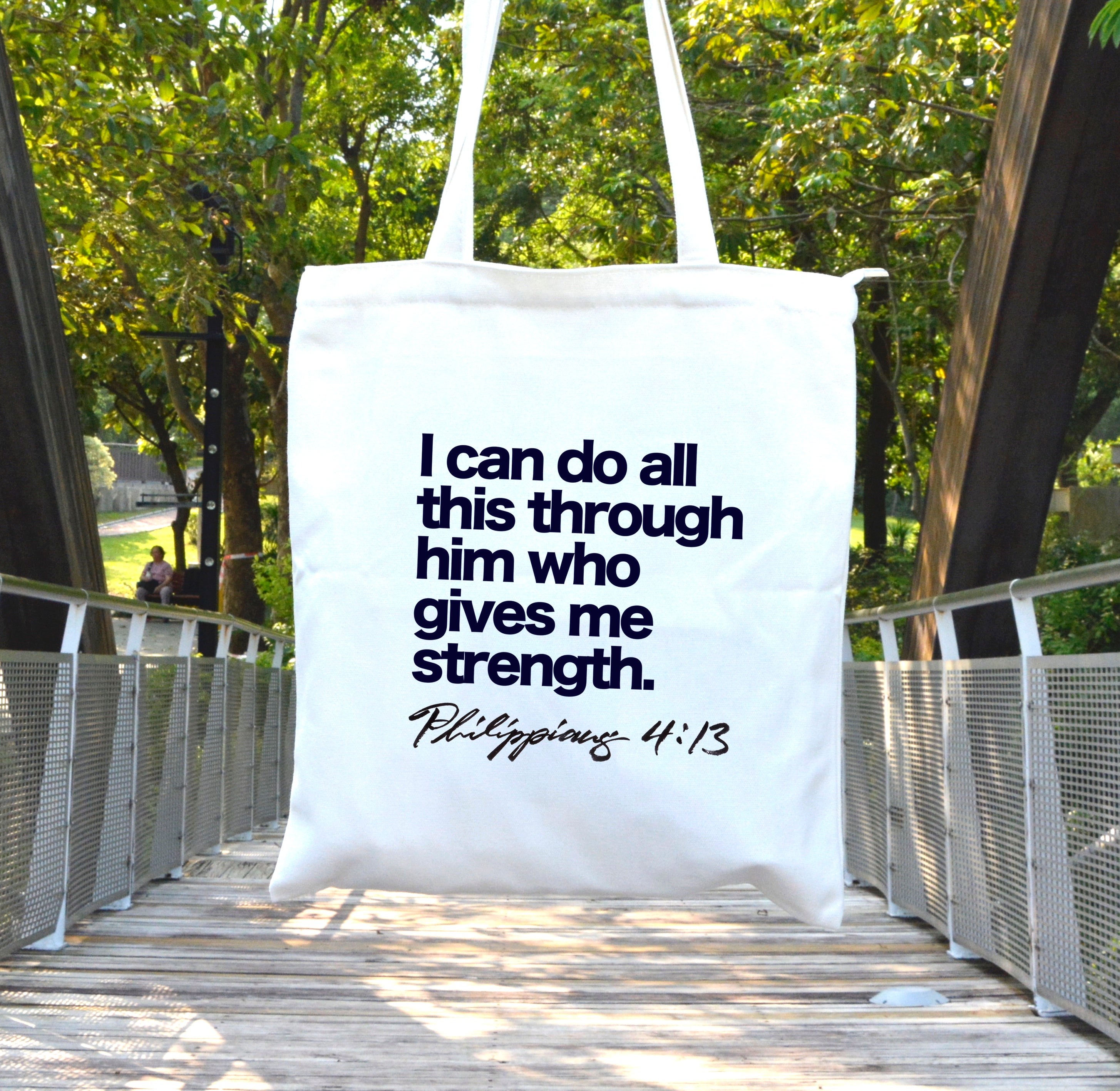 Him who gives me strength // Philippians 4:13 - Lloria's