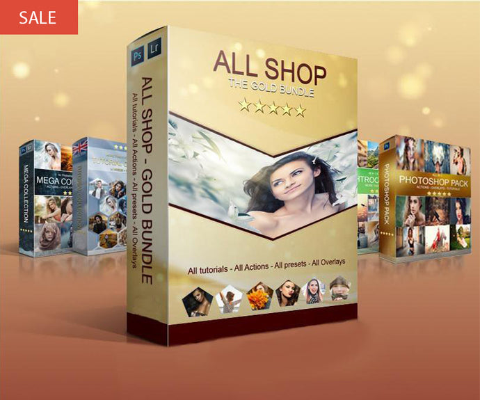 ALL SHOP! All tutorials - All actions - All overlays - all presets