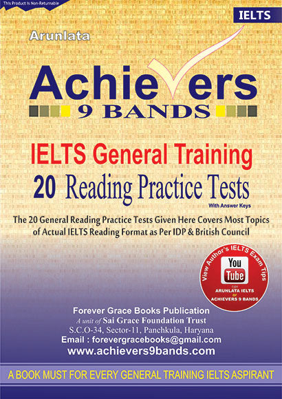 Achievers 9 Bands IELTS General Training 20 Reading Practice Tests