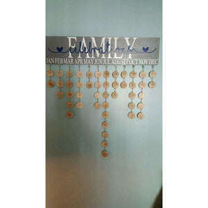 Family Celebration Board - White Hydrangea Gifts