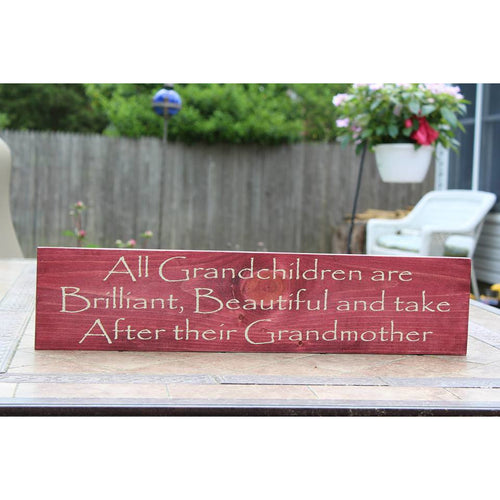 Grandma Hand made Sign - White Hydrangea Gifts