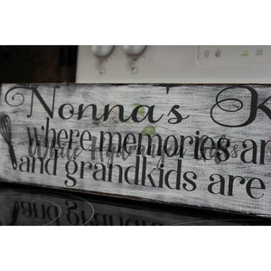 Hand Painted Nonna's Kitchen Sign - White Hydrangea Gifts