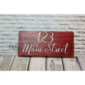 Hand made Address Sign - White Hydrangea Gifts