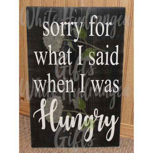 I'm Hungry - White Hydrangea Gifts