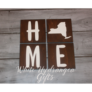 4 Piece Home Sign - White Hydrangea Gifts