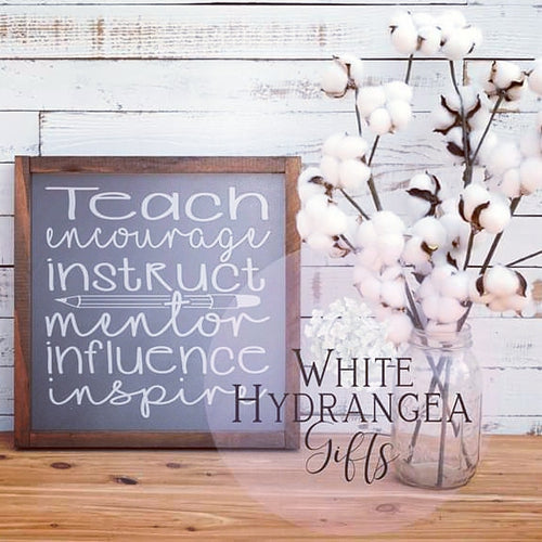End of year teacher gift - White Hydrangea Gifts