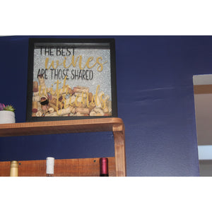 Wine Lovers Collector Shadow Box - White Hydrangea Gifts