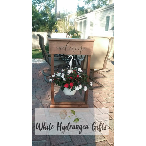 Custom Built Plant Stand - White Hydrangea Gifts