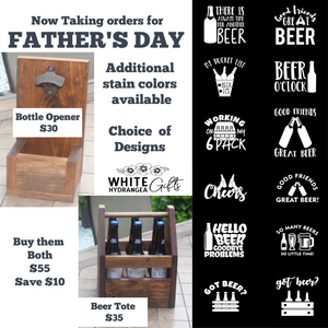 Father's Day 2020 Beer Tote and Bottle Opener