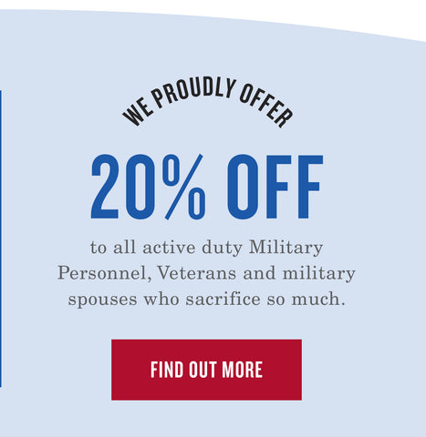 We Proudly Offer a 20% Discount To All Military Personal