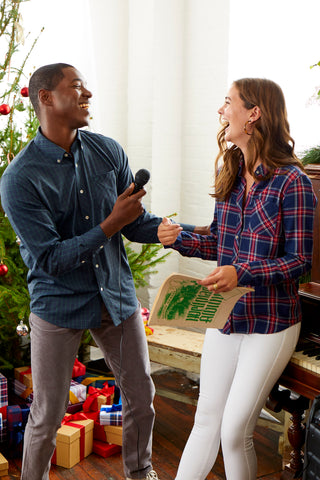 Couple Singing Christmas Carols Southern Tide