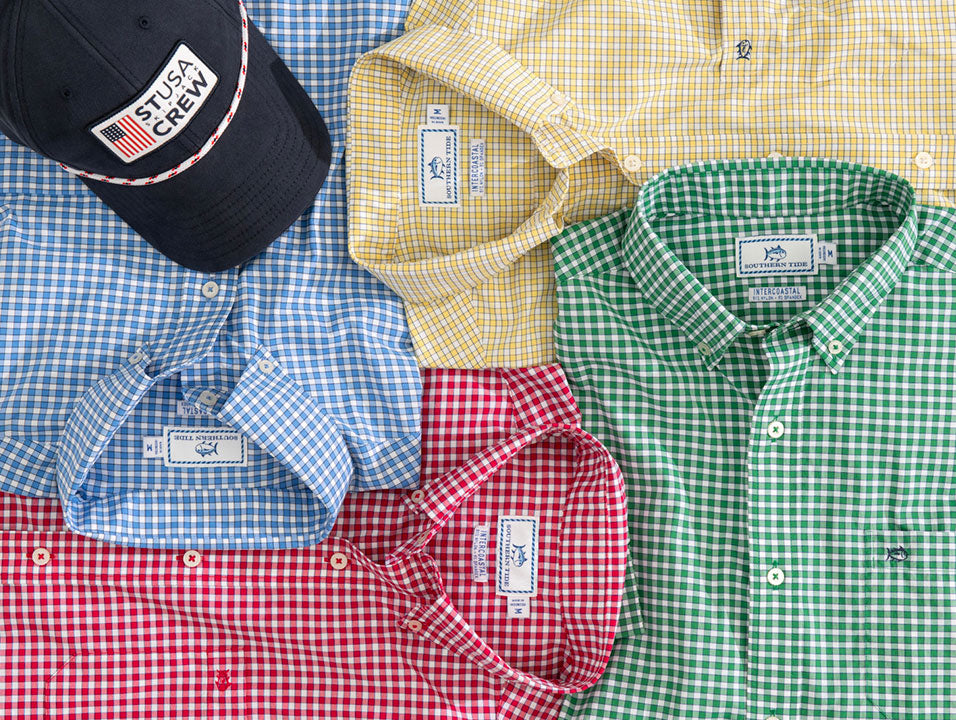 Red, Yellow, Blue and Green Sport Shirts for Men