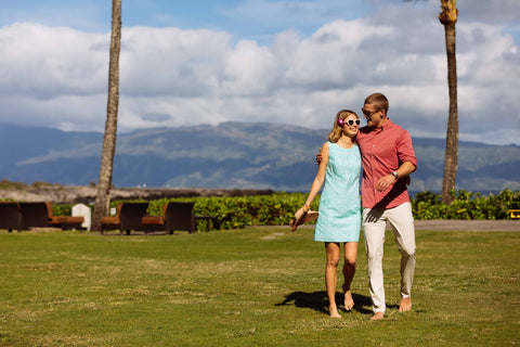 Couple in Hawaii wearing Southern Tide