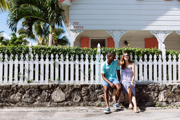 Man and woman in the Bahamas in Southern Tide