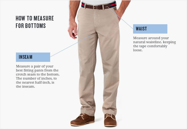 Mens Bottoms How To Measure