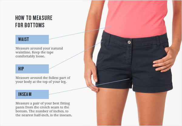 Womens Bottoms How To Measure