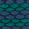 Braided Elastic Striped Web Belt - Augusta Green Color Swatch Image