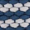 Braided Elastic Striped Web Belt - Dutch Blue Color Swatch Image