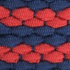 Braided Elastic Striped Web Belt - Sea Coral Color Swatch Image