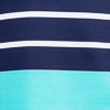 Coastline Stripe Knit Performance Dress - Blue Turquoise Color Swatch Image