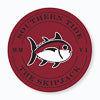 Gameday Skipjack Sticker - Chianti and Black Color Swatch Image