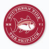 Gameday Skipjack Sticker - Crimson and White Color Swatch Image
