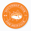Gameday Skipjack Sticker - Rocky Top Orange and White Color Swatch Image