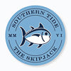 Gameday Skipjack Sticker - Tide Blue and Navy Color Swatch Image