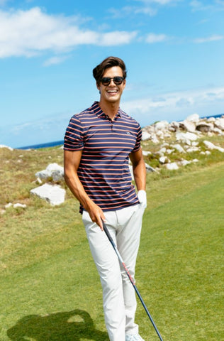 First Mate Striped Polo Featured